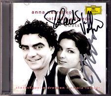 Anna NETREBKO & Rolando VILLAZON Signiert DUETS CD Puccini Verdi Nicola LUISOTTI