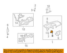 GM OEM Dash A/C AC Heater-Air Vent Side Duct Left 96661709