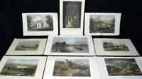 Antique Engravings/Prints x10 of England and Ireland c1807-1860 Value £160-£200