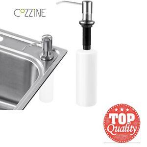 Soap Dispenser 500ml Kitchen Sink Hand Pump Washing Up Liquid White ABS Bottle