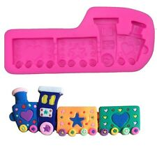 Train Silicone Cake Mould Baby Christening Sugarpaste.Baby Boy. New Baby. Shower