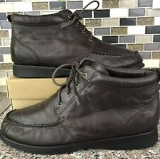 Hush Puppies Brown Leather Upper Ankle Chukka Boots Lace Ups Women's 11 EW