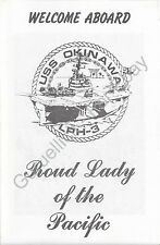 USS Okinawa (LPH 3) - US Navy Welcome Aboard Program - 1989