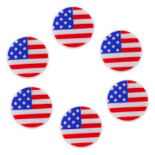 MagiDeal 6Pcs Silicone Usa National Flag Tennis Racquet Vibration Dampeners