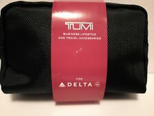 Delta Airlines TUMI Business lifestyle Black Case travel Kit bag accessories New