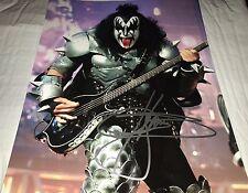 Gene Simmons Kiss Singer Concert Hand Signed 11x14 Autographed Photo COA RARE