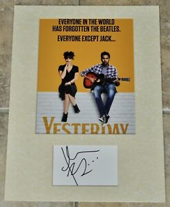 """Himesh Patel Signed Card Mounted With 10"""" x 8"""" Colour Photo Yesterday With COA"""