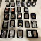 lot of 21 zippo lighters, 2 key holders, 1 tape measure - assorted lot