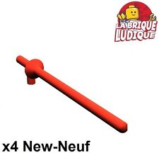 Lego - 4x minifig arme weapon lance chevalier castle kingdom rouge/red 3849 NEUF