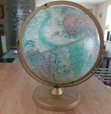 More details for vintage blue replogle 12 inch world ocean globe.