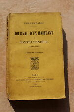 Emile EDWARDS - Journal d'un habitant de CONSTANTINOPLE 1914-1915 - PLON EO rare