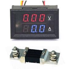 300V 500A DC Digital Voltmeter Ammeter LED Amp Volt Meter+ Current Shunt 12v 24v