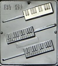FS NEW 3 Cav Piano KEYBOARD Chocolate Candy Fondant Plaster Clay Lolly Mold