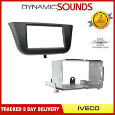 CT23IV05 Double Din Stereo Fascia Surround Kit Black For Iveco Daily 2014 On