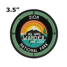 Zion National Park Embroidered Patch Iron-On / Sew-On Compass Applique