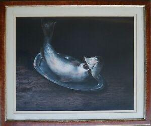 Nino Tirinnanzi litografia Natura Morta  70x50 firmata + cornice numerata 40/99