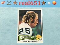 1975 Topps #405 FRED BILETNIKOFF | Decent Centered Vintage | Raiders | HOF NM/+