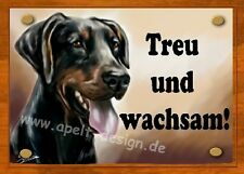 Dobermann    / Türschild / Warnschild