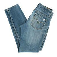 Levi's Women's Jeans Boyfriend Destructed Low Rise Medium Wash Blue Size 28 X 27