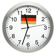 RADIO CONTROLLATO parete orologio 25 cm ALLUMINIO Germania da Radiocomandati