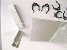 Zoccolino per mobile cucina alluminio h cm 12 x 2metri 1angolo 5molle battiscopa