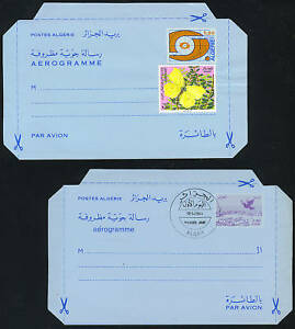 ALGERIA 1980's TWO AIR LETTERS ONE WITH FDC CANCEL