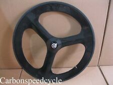 700C Tri-spoke carbon wheels /70mm tubular tri-spoke front wheel only
