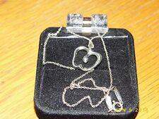"""Tiffany & Co Peretti Sterling Apple Stencil Cut Necklace Pendant/16"""" chain"""