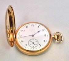 Vintage Elgin 14K Solid Yellow Gold 48mm Hunter Case Pocket-Watch 89 Grams