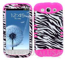 KoolKase Hybrid Silicone Cover Case for Samsung Galaxy S3 i9300 - ZEBRA Silver