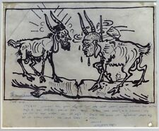 India – A cartoon okayed by Gandhi ink on paper by GAGANENDRANATH TAGORE Ӝ
