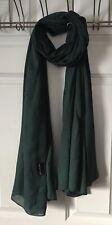 Haute Hijab Woven Viscose Hijab Evergreen Rectangle Scarf Modal Maxi Hijab