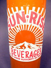 vintage ACL Soda POP Bottle:  full orange SUN-RISE of MOULTRIE, GA. - 10 oz ACL