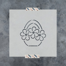 Easter Basket Cookie Stencil - Durable & Reusable Mylar Stencils