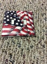 American Flag Double toggle switch plate cover