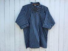 STRIPED TUNIC oversized asymmetrical lagenlook kimono sleeves minimalist blouse