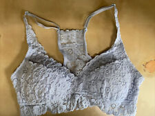 Aerie Blue Lace Molded Cup Racer Back Bralette Womens Size S