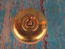 Vintage Old Collectible Brass & Ceramic Electric Switch Vitreous Germany