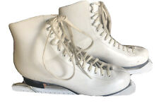 Riedell Red Wing Minnesota Womens 8 White Leather Ice Skates