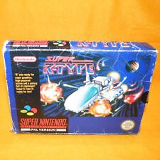 Vintage 1992 Super Nes Snes Super R-Type Juego PAL