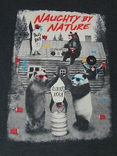 NWT- RIOT SOCIETY - NAUGHTY BY NATURE PARTYING WILDLIFE MED  GREY T-SHIRT- C1379