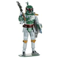 Fascinations ICONX Star Wars BOBA FETT Bounty Hunter 3D Metal Earth Model Kit