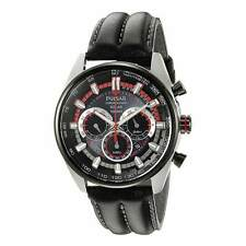 Pulsar PX5031 Men's Solar Black Dial Black Strap Chrono Date Watch
