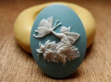 Beautiful FAIRY cameo SILICONE push mold mould polymer clay resin food grade