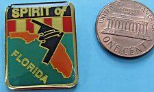 PIN Enamel vtg B-2 STEALTH Bomber Northrop GRUMMAN - Spirit of FLORIDA Air Force