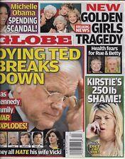 Globe magazine Ted Kennedy Golden Girls Kirstie Alley Michelle Obama Linda Hogan
