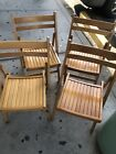 L@@K!! 4 wooden folding chairs made in romania