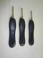 3 Scalpel Handle #4 Black Plastic Grip Surgical ENT Instruments