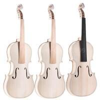 4/4 Full Size Natural Solid Wood Acoustic Violin DIY Kit Hot Gift+Free Ship O0F8