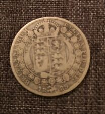 More details for 1889 great britain silver half crown vf english coin very fine 1/2 crown uk